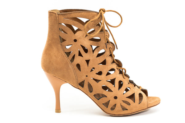GFranco tan bootie dance shoe - the Daisy