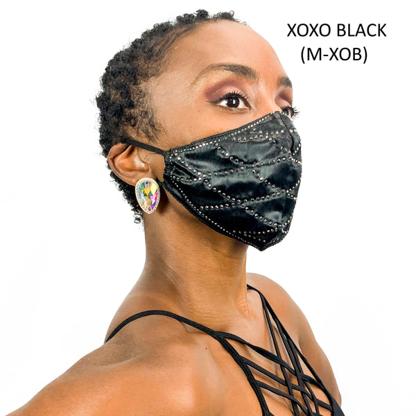 XOXO Fashion Rhinestone Face Masks
