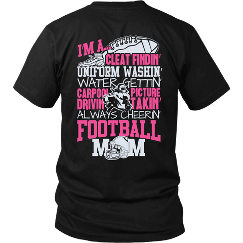 Always Cheerin' Football Mom T-Shirt