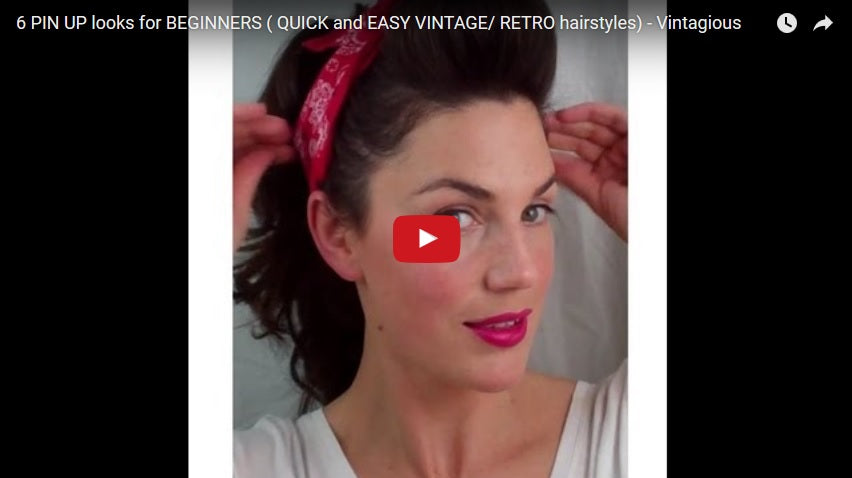 50s pin up hairstyles : 1950 Hairstyle Tutorials (30+ Tutorial Videos) ? Bold Dress