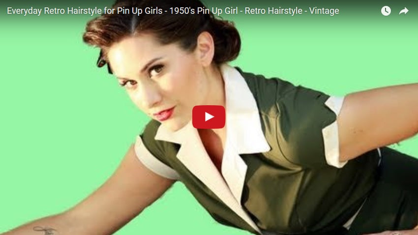 50s Pin Up Girl Hairstyle