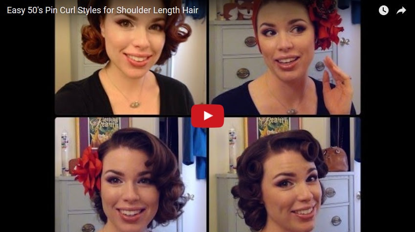 Enjoyable 1950 Hairstyle Tutorials 30 Tutorial Videos Bold Dress Hairstyle Inspiration Daily Dogsangcom