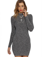 Kayden Gray Sweater Dress-BoldDress.com