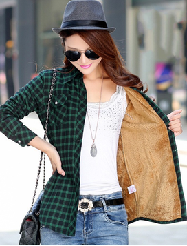 Furry On The Inside Plaid Shirt (Multiple Colors)