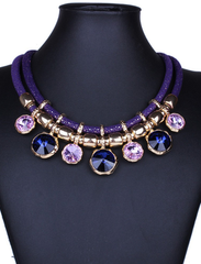 Crystal Stone Fashion Necklace (Multiple colors)-BoldDress.com