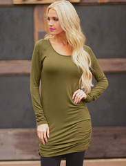 Casual Long Sleeve Top (Multiple colors)-BoldDress.com