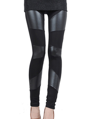 Gray Motive Black Leggings-BoldDress.com