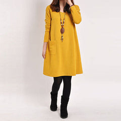 Casual Simple Loose Dress-BoldDress.com