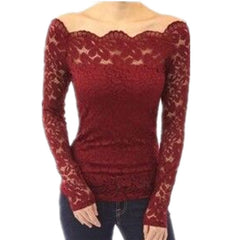 Casual Open Shoulder Blouse-BoldDress.com