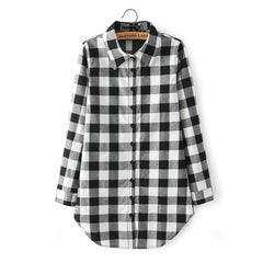 Long Plaid Sexy Shirt (Multiple Colors)-BoldDress.com
