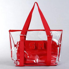 Clear Jelly Lady Beach Bag-BoldDress.com
