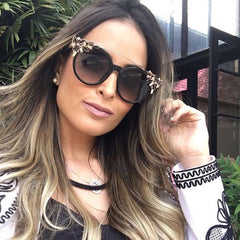 Ba- Bling Cat Eye Sunglasses-BoldDress.com