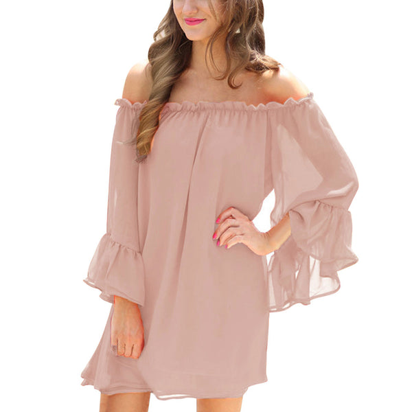 Enchanting Long Sleeve Chiffon