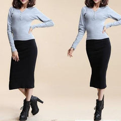 Josephina Slit Pencil Skirt-BoldDress.com