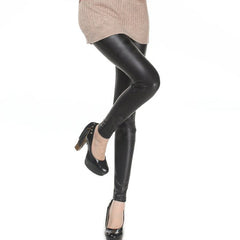 Faux Leather Leggings-BoldDress.com