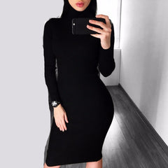 Rowan Sleek Silhouette Dress-BoldDress.com