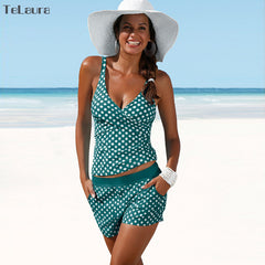 Sporty Polka Dot Tankini Set-BoldDress.com