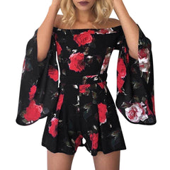 Off the Shoulder Romper-BoldDress.com