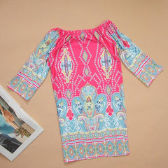 Bohemian Tunic Dress-BoldDress.com
