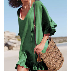 Easy Going Ruffled Beach Top-BoldDress.com