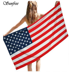 Patriotic Big Pool Towel-BoldDress.com