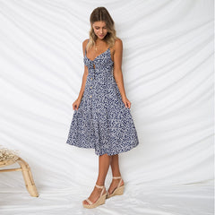 Keyhole With Bow Style Sundress-BoldDress.com