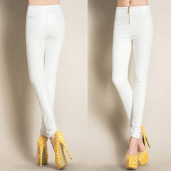 Faux Leather Pencil Pants-BoldDress.com
