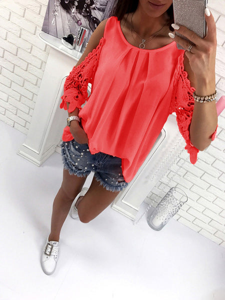 Peekaboo Lace Sleeved Top
