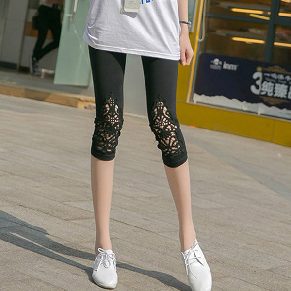 Lace Hollow Out Leggings