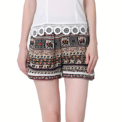 Bohemian Elephant Shorts-BoldDress.com