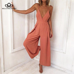 Deep V Sexy Jumpsuit-BoldDress.com