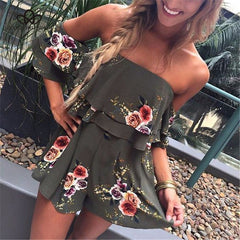Floral Ruffled Romper-BoldDress.com