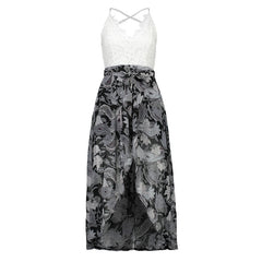 Lace Bodice Sling Dress-BoldDress.com