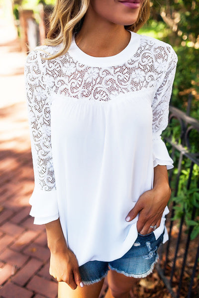 Angel Hollow Out Lace Top