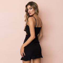 Cut Out Strapless Dress-BoldDress.com