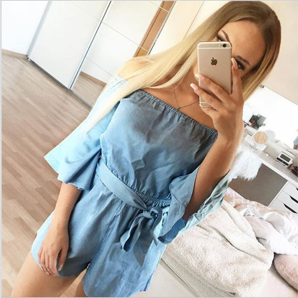 Bella In Blue Tied Romper