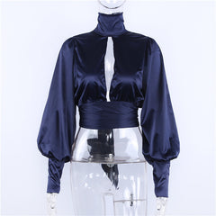 Keyhole Front Fashion Top-BoldDress.com