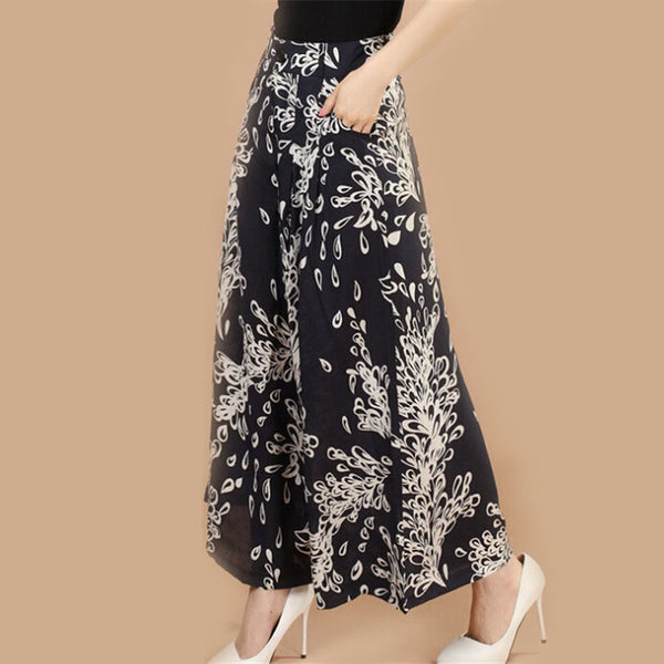 Floral Print Wide Legged Pants