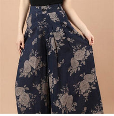 Floral Print Wide Legged Pants-BoldDress.com