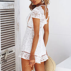 Hollow Out Lace Romper-BoldDress.com