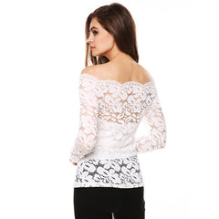 Elegant Off the Shoulder Top-BoldDress.com