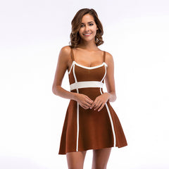 Line Defining Mini Dress-BoldDress.com