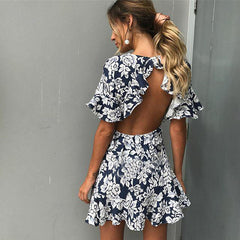 Blue Bayou Ruffle Dress-BoldDress.com