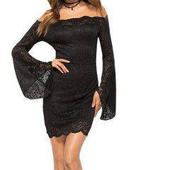 Jenna Lace Crochet Dress-BoldDress.com