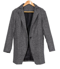 Elegant Worsted Wool Overcoat-BoldDress.com