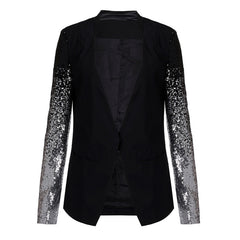 Silver Black Sequin Jacket-BoldDress.com