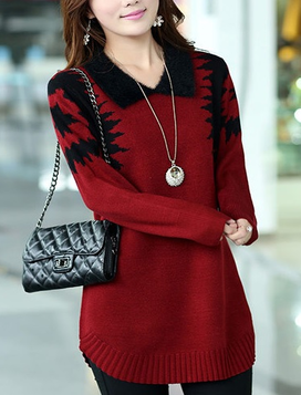 Wool Sweater With Collar (Multiple colors)