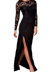 Going Out Black Lace Dress-BoldDress.com