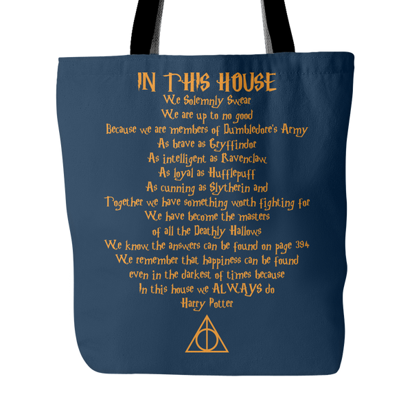 In This House Quote Tote Bag