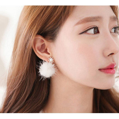 Earrings - Fur Ball Earrings